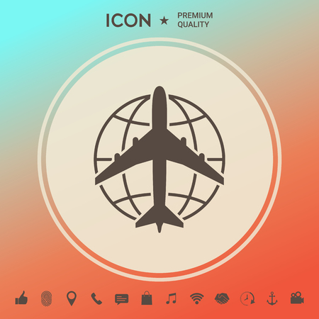 Earth and Airplane logo