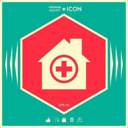 Hospital icon . Signs and symbols - graphic elements for your design