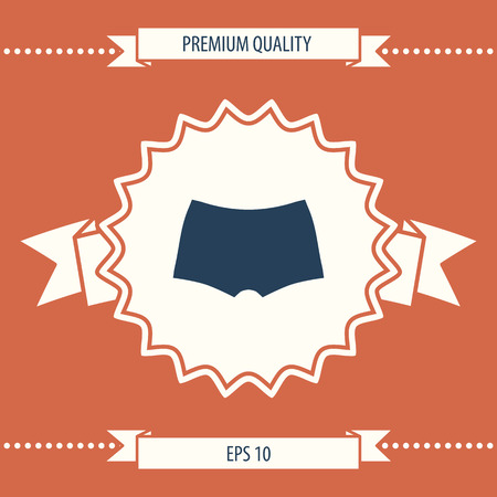 Men underwear, the silhouette. Menu item in the web design . Signs and symbols - graphic elements for your design