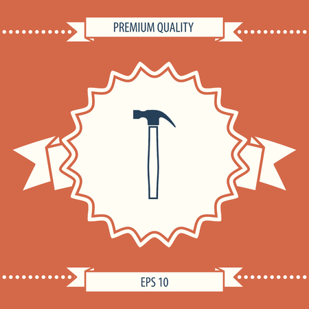 Hammer icon . Signs and symbols - graphic elements for your design