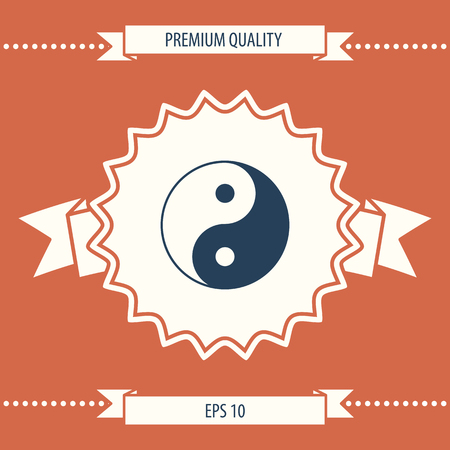 Yin yang symbol of harmony and balance . Signs and symbols - graphic elements for your design
