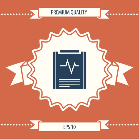 Electrocardiogram symbol icon. Element for your design . Signs and symbols - graphic elements for your design