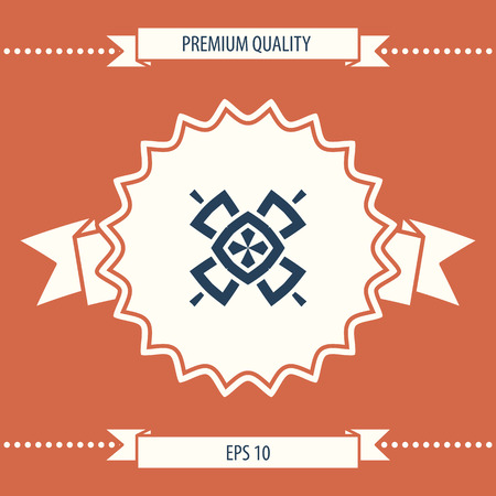 Geometric oriental pattern. Logo. Element for your design Logó