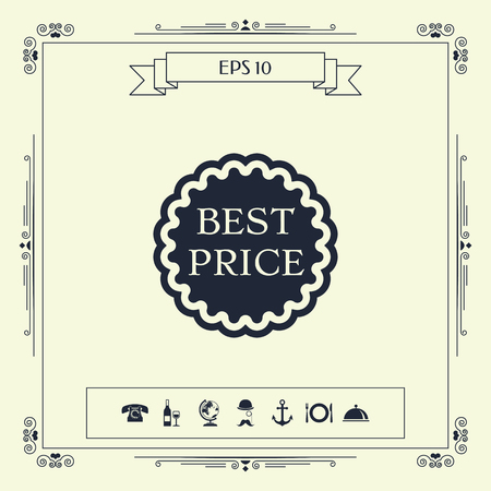 Best Price label icon. Element for your design . Signs and symbols - graphic elements for your design