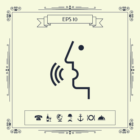 Voice control, person talking - icon . Signs and symbols - graphic elements for your design Ilustração