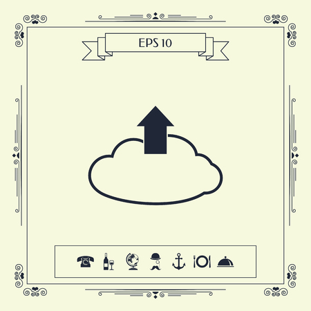 Download from The Cloud. Element for your design . Signs and symbols - graphic elements for your design