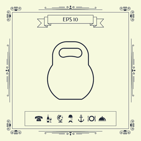 Kettlebell line icon . Signs and symbols - graphic elements for your design