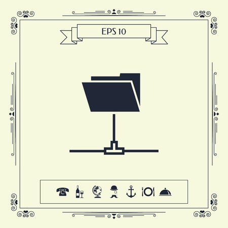 Folder sharing icon . Signs and symbols - graphic elements for your design