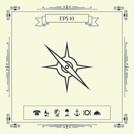 Compass line icon. Element for your design . Signs and symbols - graphic elements for your design
