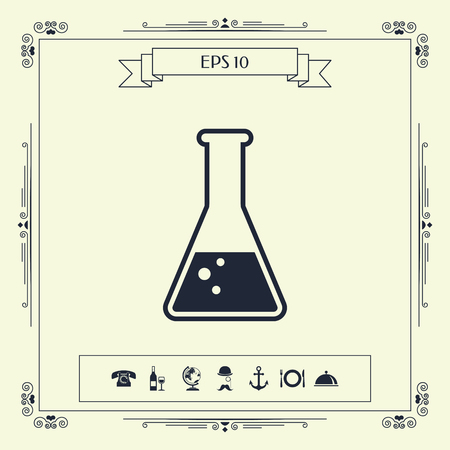 Test-tube symbol Bubbles . Signs and symbols - graphic elements for your design Illustration