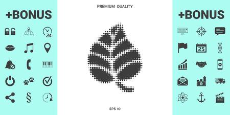 Leaf symbol - halftone logo