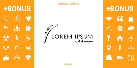 Elegant logo with Fountain pen Logo