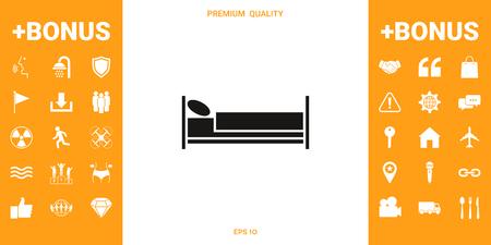 Bed symbol icon