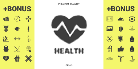 Heart symbol - halftone icon