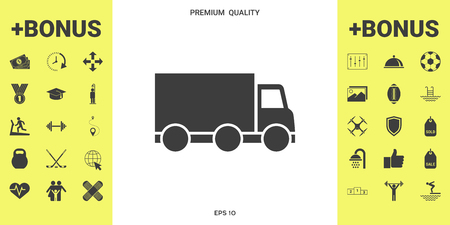 Delivery car icon illustration Illustration