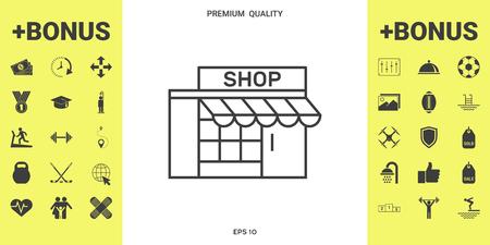 Store icon symbol Иллюстрация