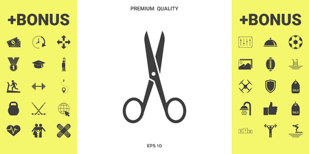 Scissors icon . Signs and symbols - graphic elements for your design 版權商用圖片 - 112005916