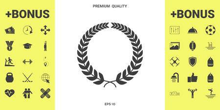 Laurel wreath for design illustration
