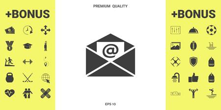 Email symbol icon illustration Illustration