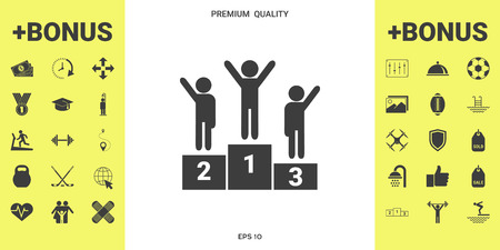 Pedestal podium icon . Signs and symbols - graphic elements for your design