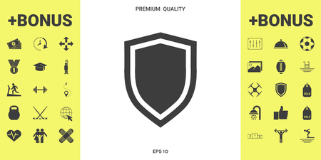 Shield, protection icon . Signs and symbols - graphic elements for your design Vetores