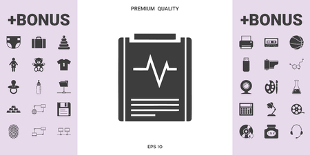 Electrocardiogram symbol icon. Element for your design .