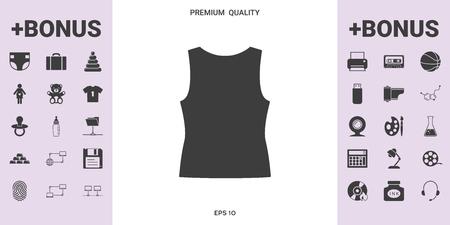 Women T-shirts, the silhouette. Menu item in the web design .