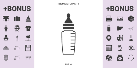 Baby feeding bottle icon. Element for your design .