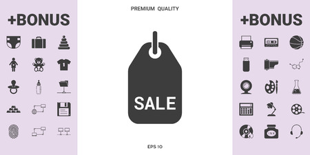 Sale tag . . Signs and symbols - graphic elements for your design