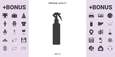 Spray Bottle silhouette . . Signs and symbols - graphic elements for your design
