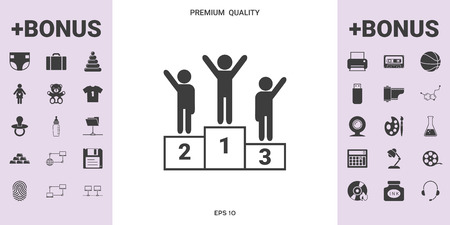 Pedestal - podium icon . . Signs and symbols - graphic elements for your design