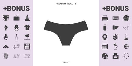 Women panties, the silhouette. Menu item in the web design .