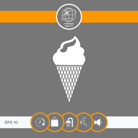 Ice cream symbol . Signs and symbols - graphic elements for your design