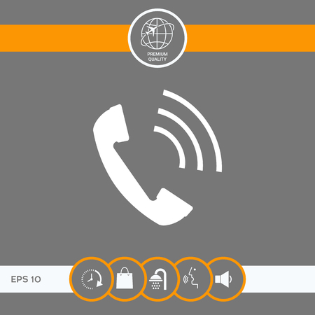 Telephone handset, telephone receiver icon . Signs and symbols - graphic elements for your design
