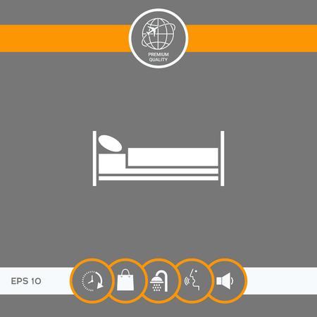 Icône de symbole de lit