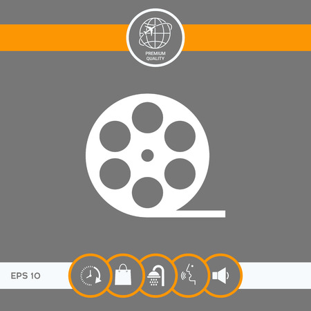 Reel film symbol icon