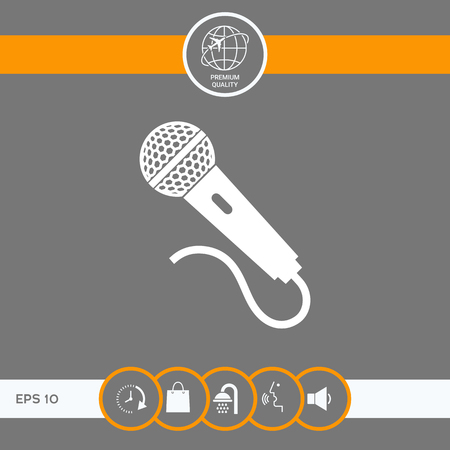 Microphone icon . Signs and symbols - graphic elements for your design