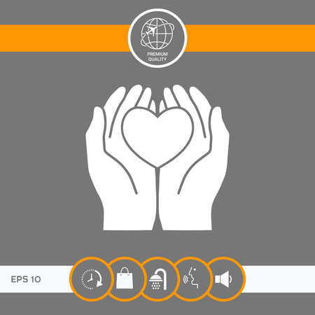 Hands holding heart - protection symbol