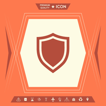 Shield. Protection icon . Signs and symbols - graphic elements for your design