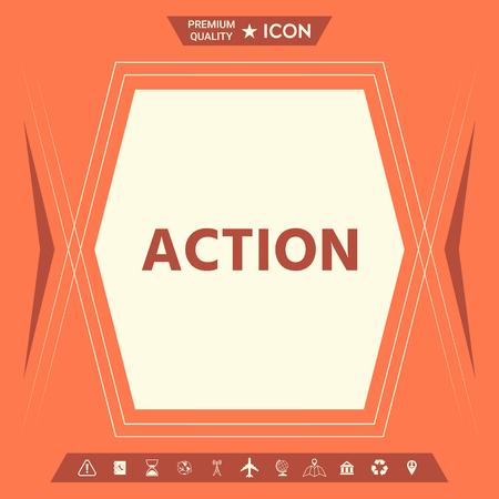 Action button symbol. Element for your design. . Signs and symbols - graphic elements for your design Stock Illustratie