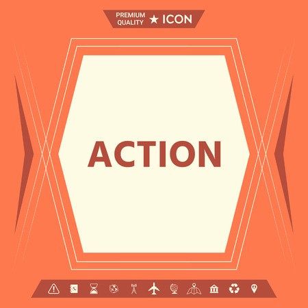 Action button symbol. Element for your design. . Signs and symbols - graphic elements for your design Stock Illustratie