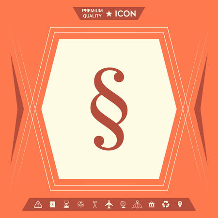 Paragraph icon . Signs and symbols - graphic elements for your design