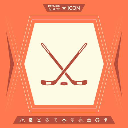 Hockey icon . Signs and symbols - graphic elements for your design Illustration