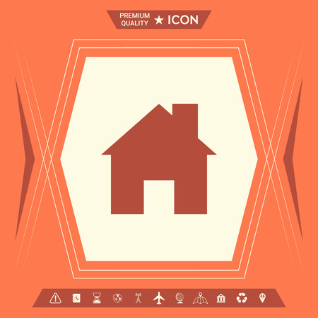 Home icon . Signs and symbols - graphic elements for your design