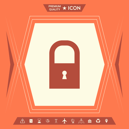 Lock icon . Signs and symbols - graphic elements for your design