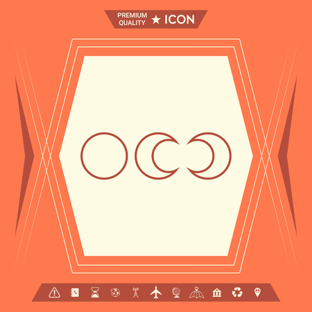 Phases of the moon - line icons . Signs and symbols - graphic elements for your design Ilustração