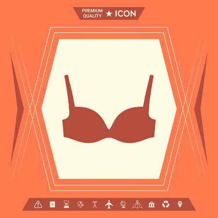 Woman underwear, the silhouette. Menu item in the web design . Signs and symbols - graphic elements for your design