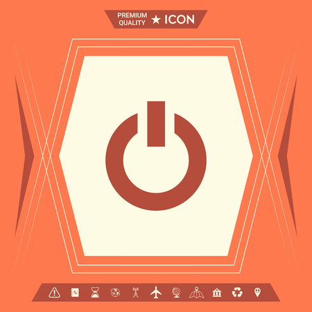 Power button icon . Signs and symbols - graphic elements for your design