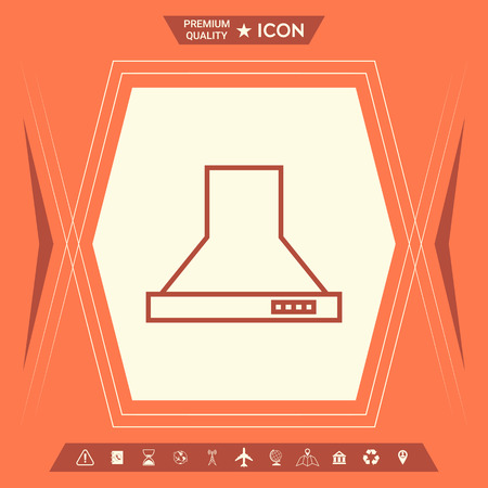 Kitchen hood linear icon . Signs and symbols - graphic elements for your design