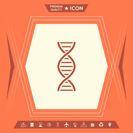 DNA symbol icon. Element for your design . Signs and symbols - graphic elements for your design Ilustração